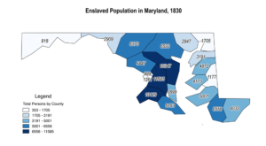 Maryland Enslaved Population, 1830
