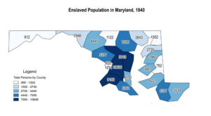 Maryland Enslaved Population, 1840