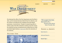 Papers of the War Department